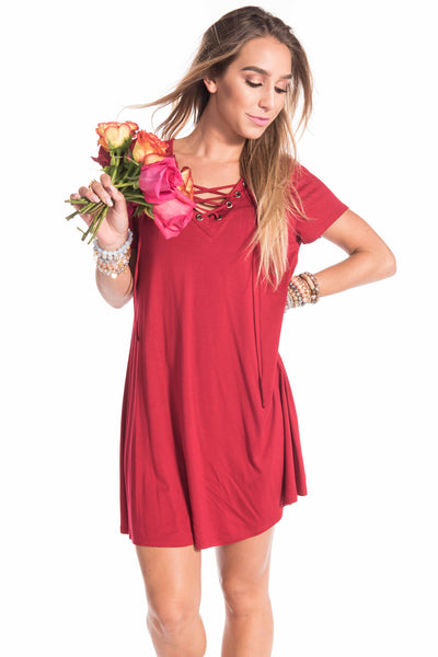 Knit Lace Up Dress (3 colors) - Sadie Coleman