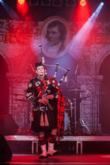 piping in the guests at Burns night supper