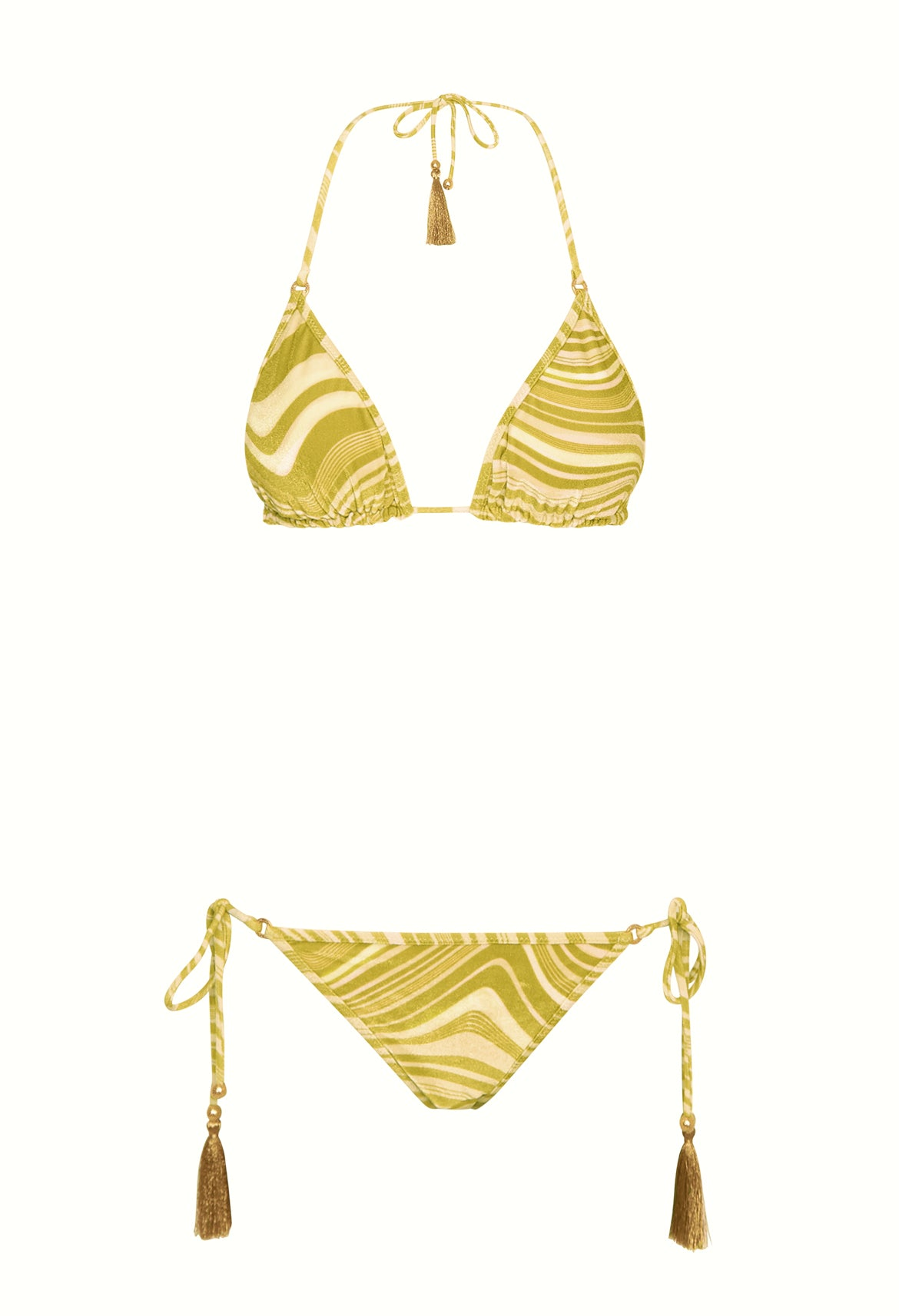 Velvet Wave Triangle Bikini