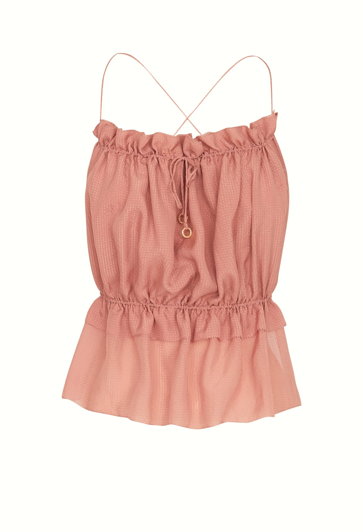Blush Silk String Top