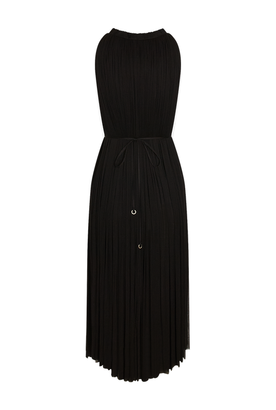 Load image into Gallery viewer, Black Silk Tulle Dress
