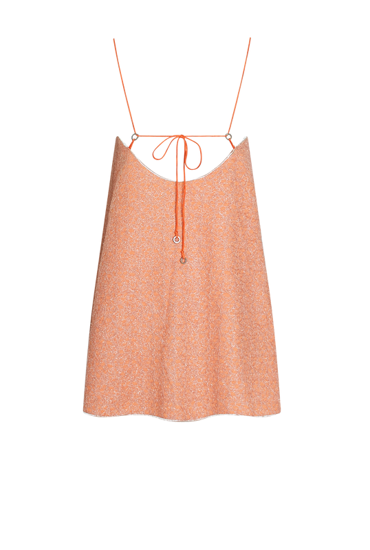 Load image into Gallery viewer, Peach Bloom Mini Dress