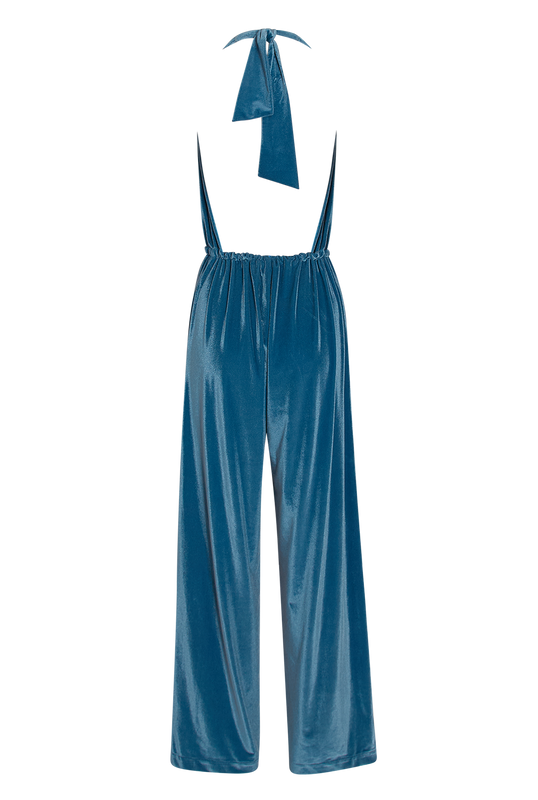 Load image into Gallery viewer, Blue Velvet Catsuit