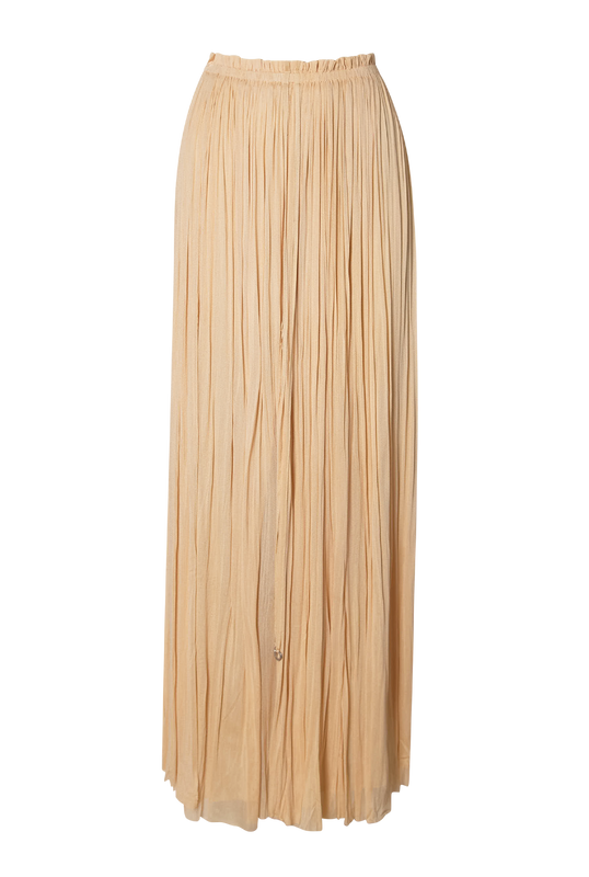 Load image into Gallery viewer, Beige Silk Tulle Skirt