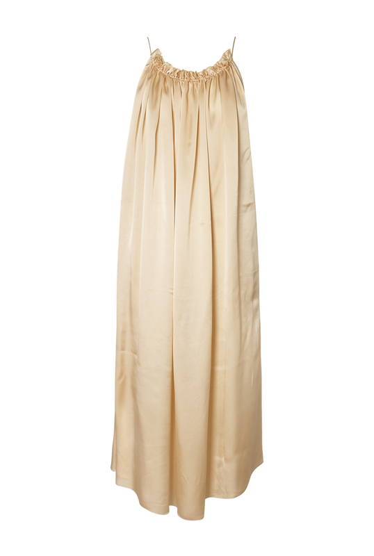 Load image into Gallery viewer, Ivory Satin Dress