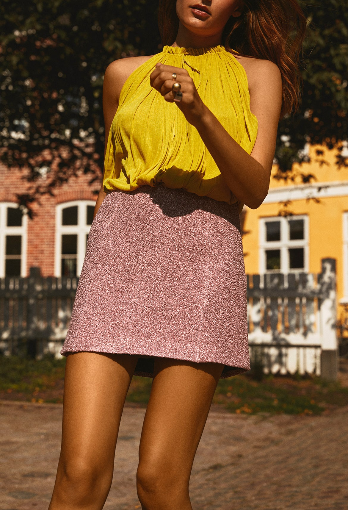 Pink Tweed Skirt