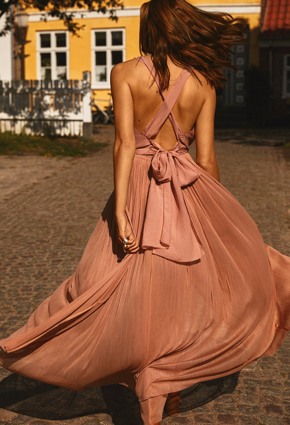 Blush Silk Skirt