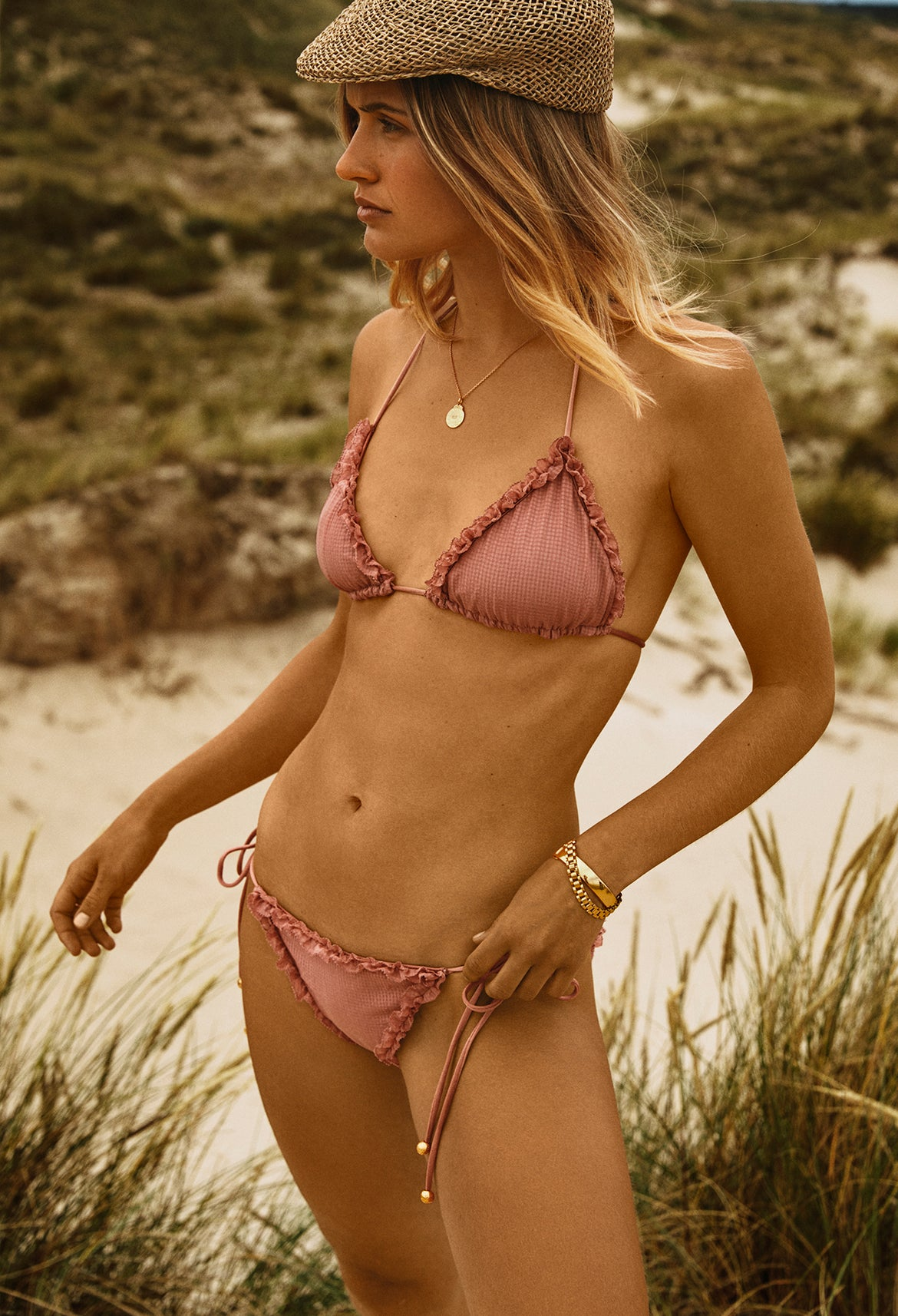 Blush Triangle Bikini