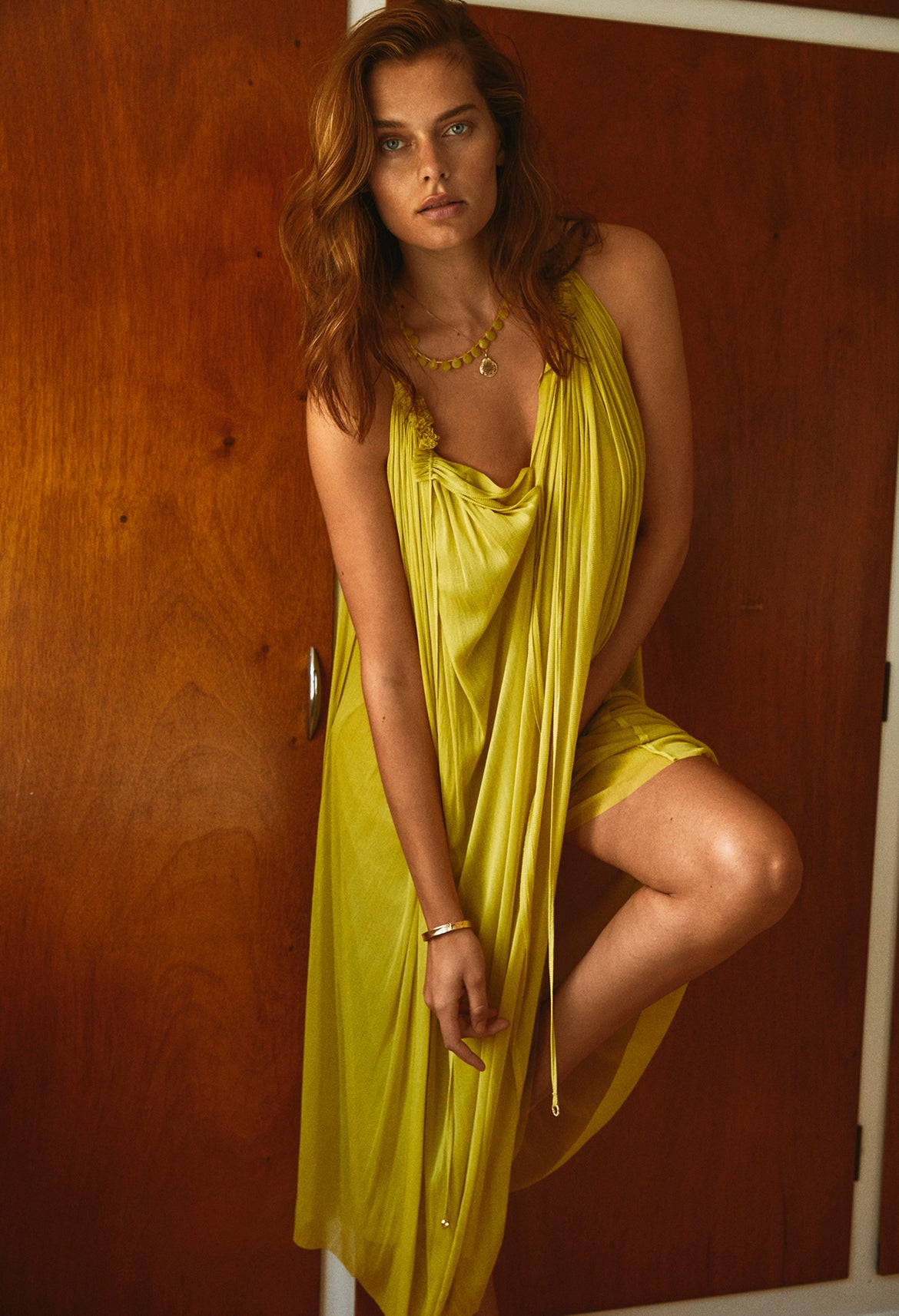 Lime Silk Dress