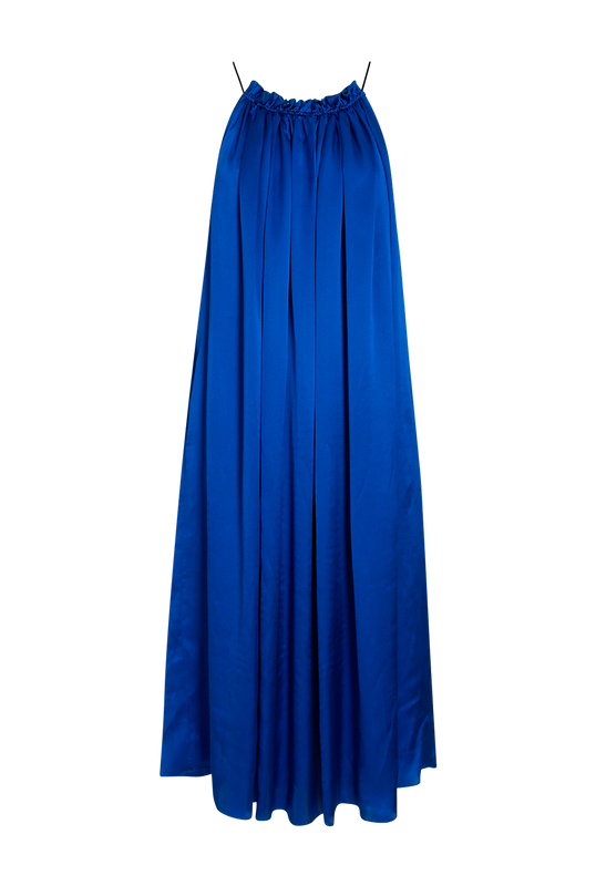Load image into Gallery viewer, Cobalt Satin Dress