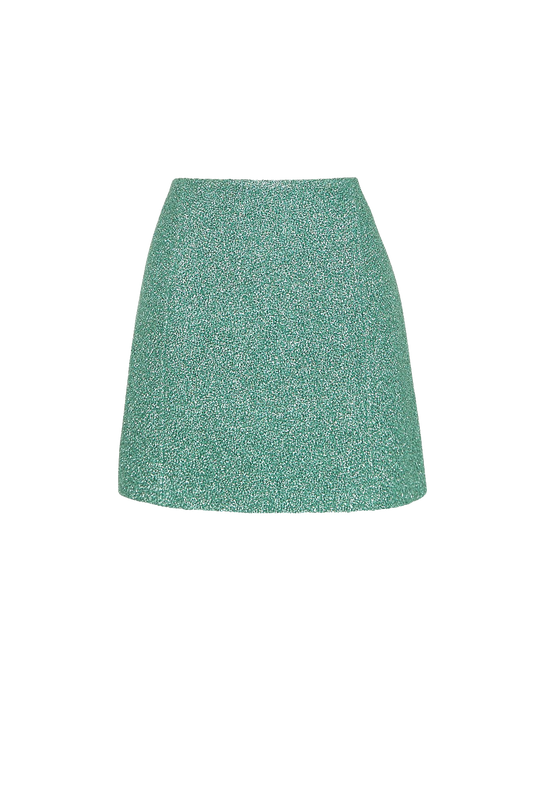 Load image into Gallery viewer, Turquoise Tweed Skirt