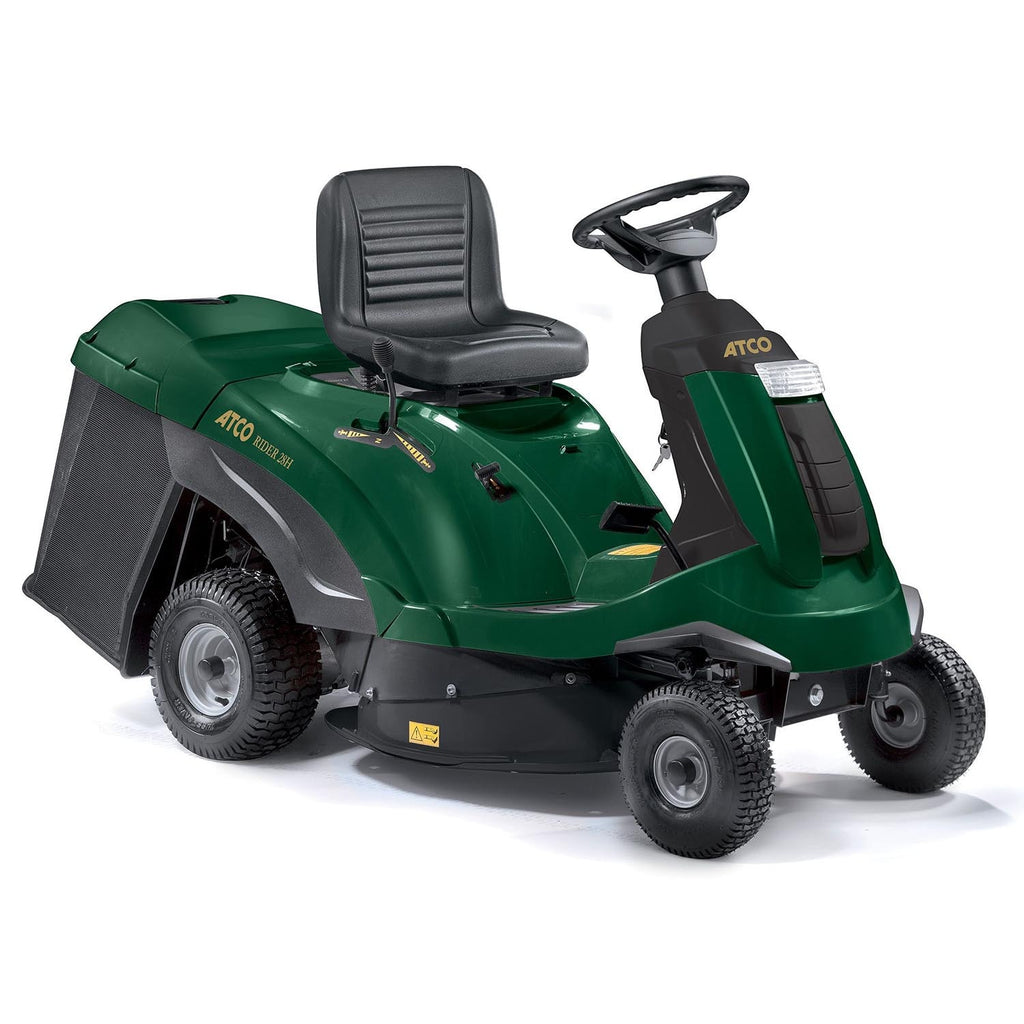 "Atco Rider 28H (28"" 72cm) Compact Ride On Petrol Lawn Mower"