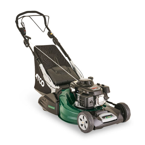 "Atco Quattro 22SH BBC 4 in 1 (20.8"" 53cm) Self-Propelled Mulching Petrol Lawn Mower"