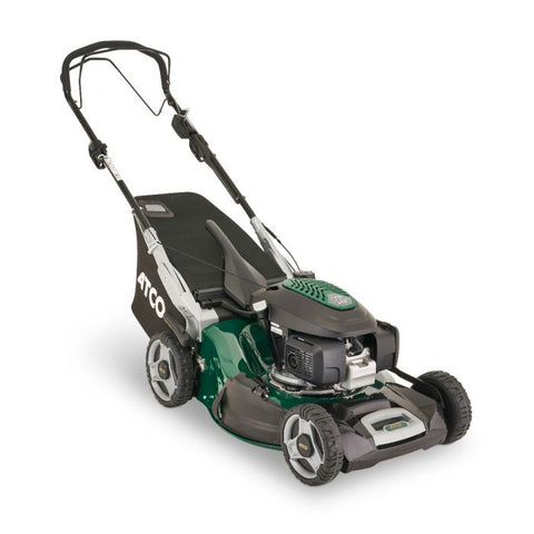 "Atco Quattro 22SH V 4 in 1 (20.8"" 53cm) Self-Propelled Mulching Petrol Lawn Mower"