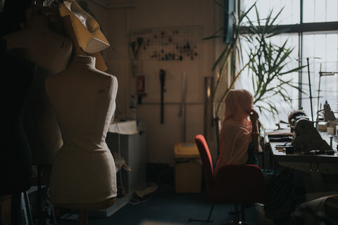 Ethical sewing manufacturing studio FabricWorks London