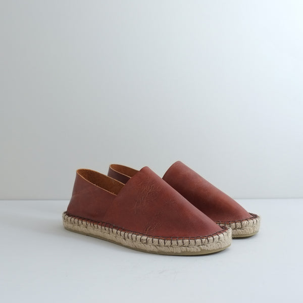Ethical leather espadrilles