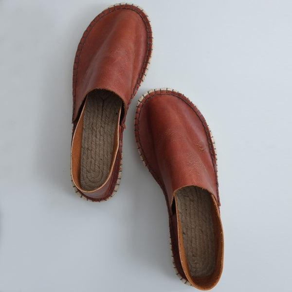 Leather espadrilles made in the UK