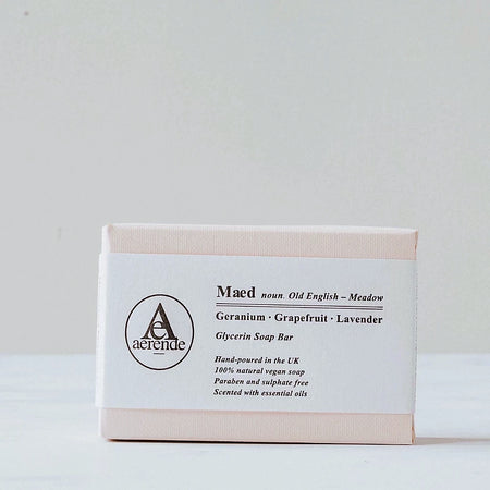 Pale Pink Soap Box with Letterpressed Bellyband