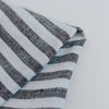 Close up of stripe linen napkin