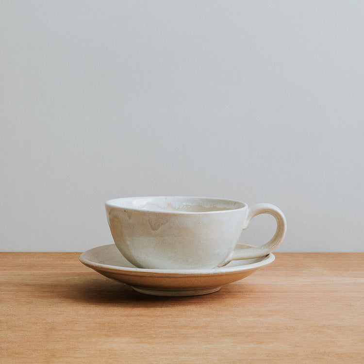 Stoneware coffee cup, handmade in the UK