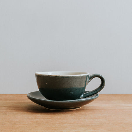 Handmade Grey Stoneware Coffee Cup
