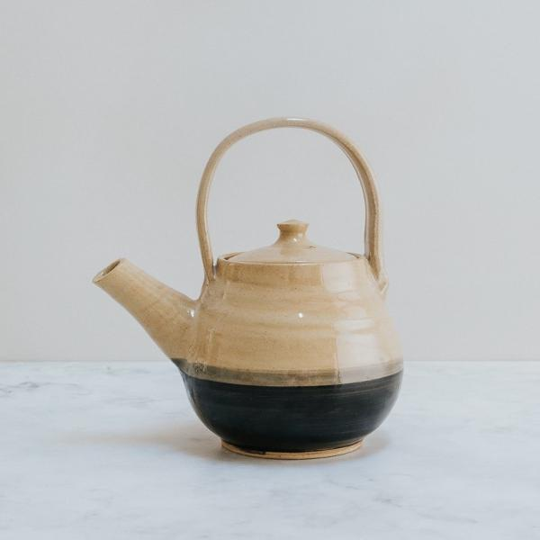Handmade in the UK, Black Stripe Teapot, Social Enterprise Homewares