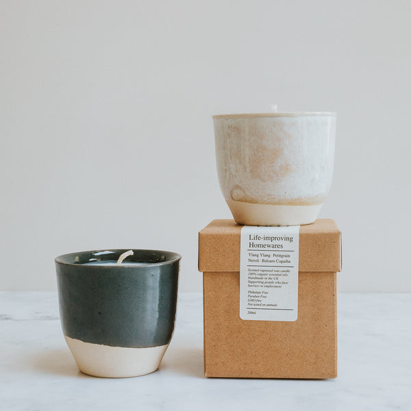 Ethical Scented Candle, Rapeseed Wax and Essential Oil Fragrance