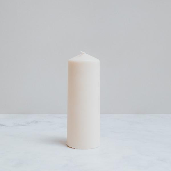 Rapeseed Wax Pillar Church Candle, Non Toxic