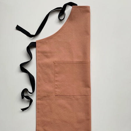 Organic Cotton Apron, Terracotta