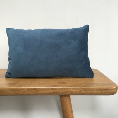 Teal Velvet Lumbar Cushion, Ethically Handmade in London