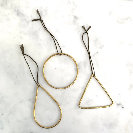 Brass Christmas Decoration Set