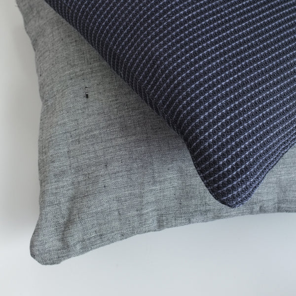 Organic Cotton Cushion, Grey