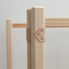Wooden clothes horse join detail