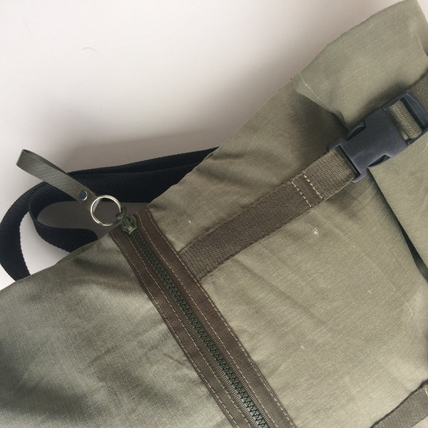 canvas rucksack close-up