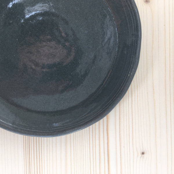 Grey Stoneware Closeup