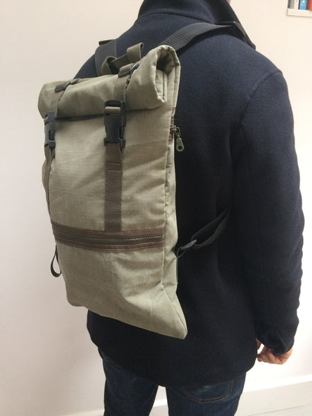 Recycled canvas utility backpack