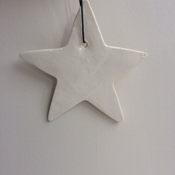 Porcelain Christmas tree decoration, large star