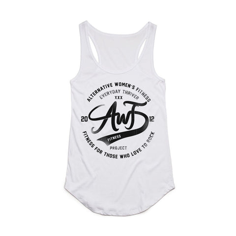 AWF Thrive Racer Tank Top - white