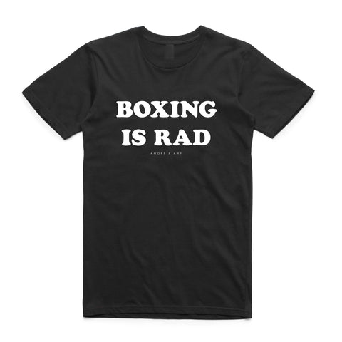 AXA BOXING IS RAD TEE - BLACK (custom)