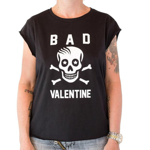 Bad Valentine Skull Raw Cut T