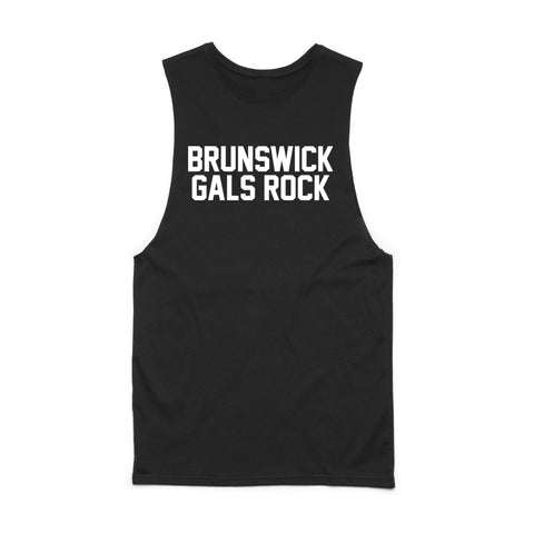 BRUNSWICK GALS ROCK MUSCLE TANK (custom)