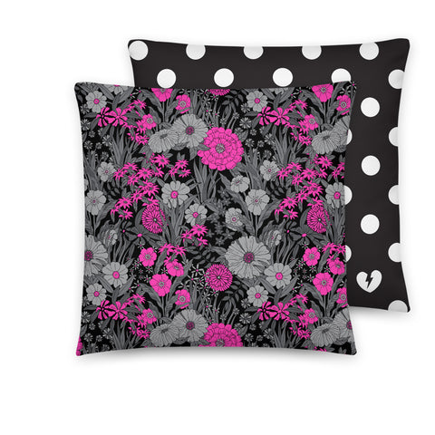 FLORAL VS. POLKA DOT CUSTOM CUSHION (COVER)