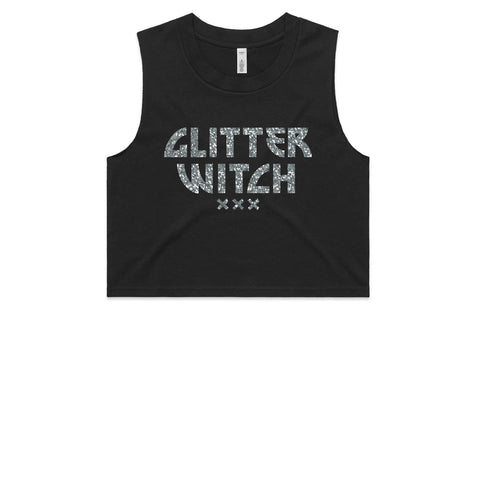 GLITTER WITCH Custom (Glitter) Crop Tank