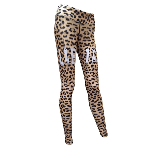 L-Bomb Leopard Print Leggings (Available)