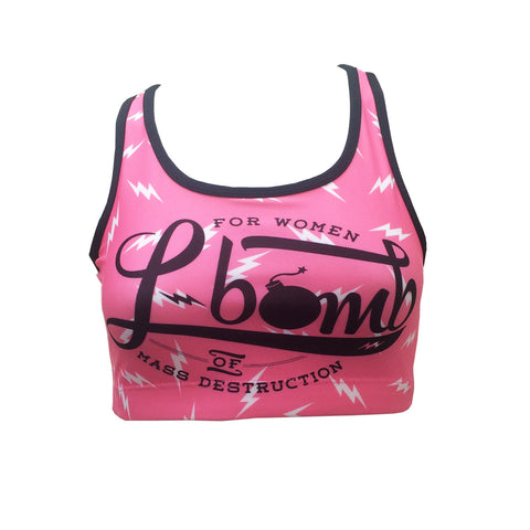 L-Bomb PiNK Lightning Bolt Crop