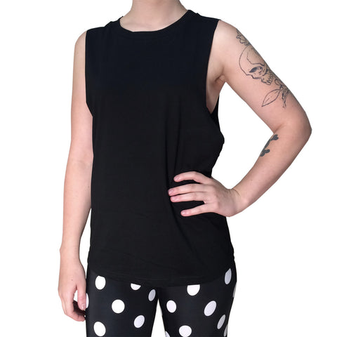 Plain Muscle Tank (Black)