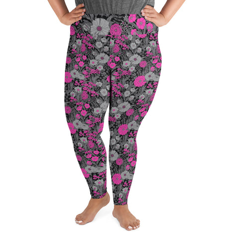 PRETTY POP VINTAGE GARDEN CUSTOM LEGGINGS+