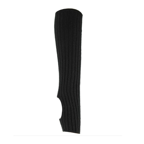 NEW - RIBBED LEG WARMERS - BLACK