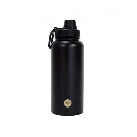 Water Bottle S/S - Black
