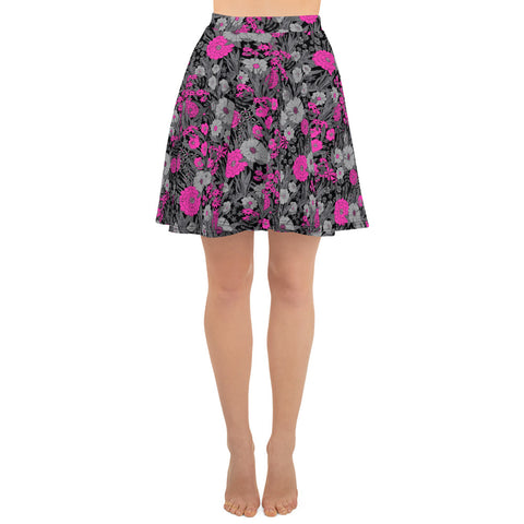 PRETTY POP VINTAGE GARDEN CUSTOM SKATER SKIRT